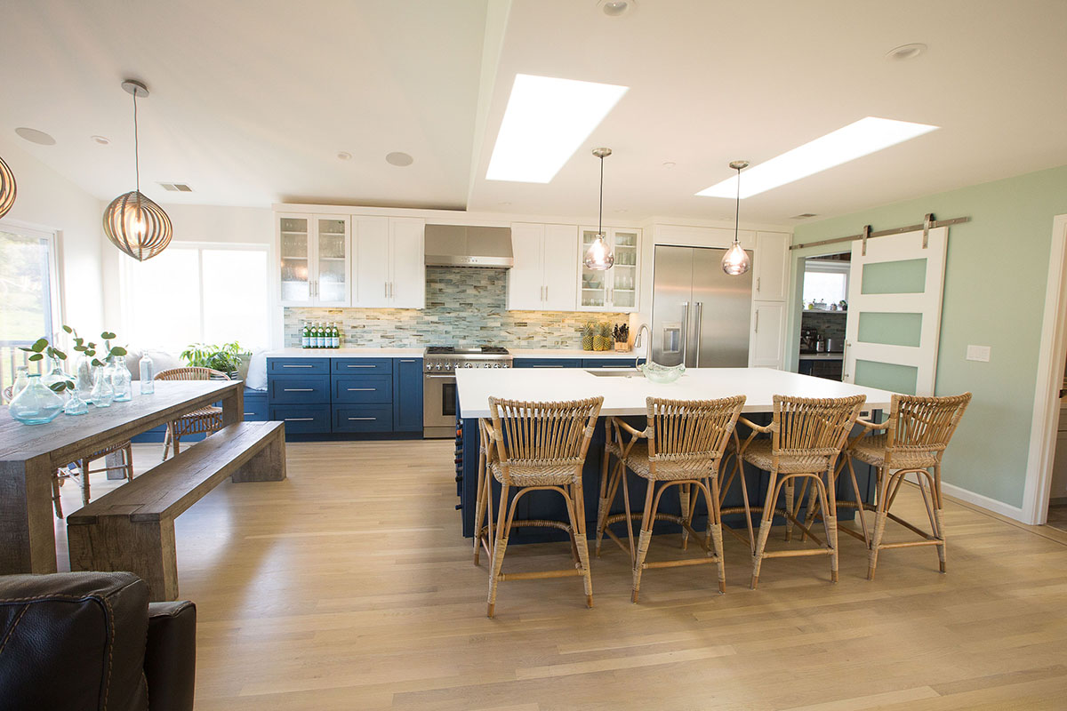 cool-blue-kitchen-hardwood-floors